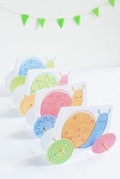 DIY Snail Racers
