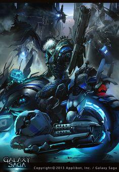 Artist: Ignacio Bazán Lazcano aka neisbeis - Title: blue flashy rider - Card: Cyclone Falco (Swift)