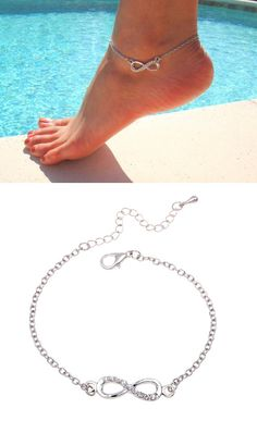 Tell your special one that your love is infinite. This anklet is perfect key to…