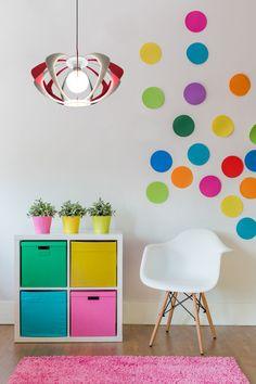 Lampadario Sospeso modello ROMBO in policarbonato e plexiglass colorato di design, minimal.