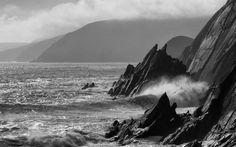 my favourite photo - coumeenole beach in dingle - Giles Norman Gallery Black Castle, Big Sky, Black And White Photography, Norman, Photo Editing, Gallery, Beach, Water, Travel