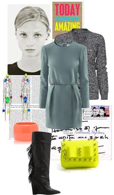 """""""neon accessoires"""" by akchen ❤ liked on Polyvore"""