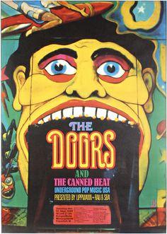 92: Original Poster 1968 The Doors KIESER : Lot 92