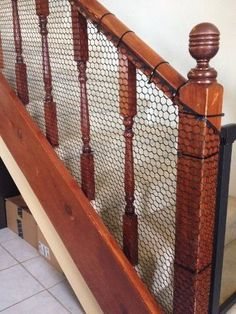 Child-proofing your home can be expensive! Here is an easy, inexpensive DIY Banister Guard that will keep your children safe for under $30!