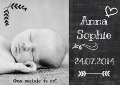 foto geboortekaart krijtbord - Geboortekaartjes - Kaartje2go