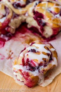 Raspberry Swirl Sweet Rolls!  Easier than they look.