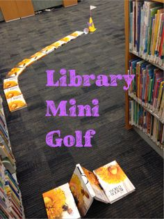 Kids will have a blast playing mini golf in the library this summer!