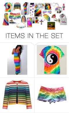 """Rainbow"" by imtitanium-34110 ❤ liked on Polyvore featuring art"