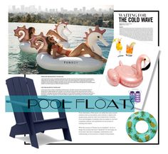 """Pool Floats"" by out-of-styles on Polyvore featuring interior, interiors, interior design, Zuhause, home decor, interior decorating, Madewell und Loll Designs"