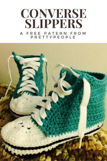 PrettyPeople: Crochet Converse Slipper Pattern!