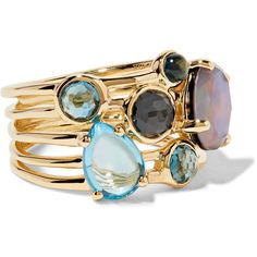Ippolita Rock Candy 18-karat gold multi-stone ring (122.285 RUB) ❤ liked on Polyvore featuring jewelry, rings, gold, handcrafted jewelry, ippolita ring, handcrafted jewellery, handcrafted rings and hand crafted jewelry