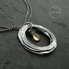 Necklace citrine by studioformood on Etsy