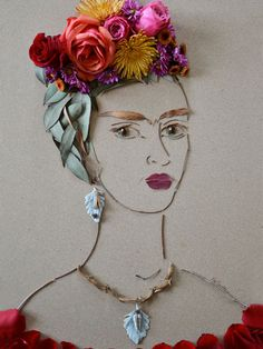 """Frida II"" Flower Face Print"