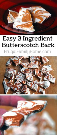 This is an easy to make recipe for Butterscotch Bark. It only takes 3 ingredients and about 5 minutes to make. It's a super simple candy recipe that's perfect for Christmas gift giving.