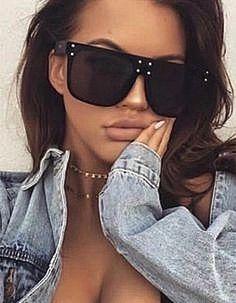 """XXL OVERSIZED """"over the hills """" Women Sunglasses Aviator Flat Top Square Shadz #Aviator #Oversized"""