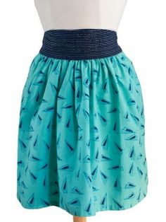 Fair trade Yin Yoke skirt in blue from Mata Traders