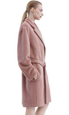 Elga hairy robe inspired coat in a light, soft Alpaca wool blend #AcneStudiosFW15 #AcneStudios