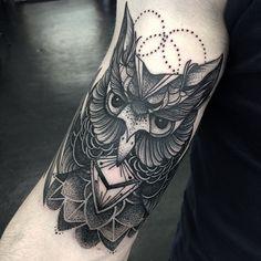 dotwork owl - Szukaj w Google