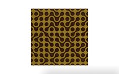 Vicoustic's Stylo pattern with gold frame and brown fabric.