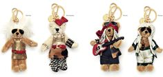 Prada holiday keychain rock-n-roll band mini bears. Yup, that ought to do it.