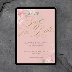 Florals and pastel palette save the date Pastel Palette, Digital Invitations, Tie The Knots, Wedding Stationery, Save The Date, Florals, Dating, Studio, Tying The Knots