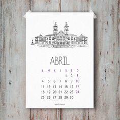 Calendario Abril 2016 descargable gratis
