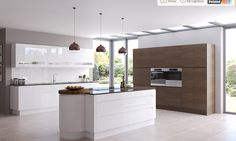 Burbridge Kitchens. Malmo smoked oak and gloss white  www.unitsonline.co.uk