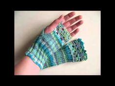 Parmaksız örgü eldiven modelleri - YouTube