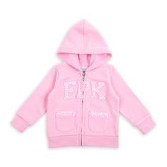 Suéter EPK estilo jogging para bebé niña, en color rosado.