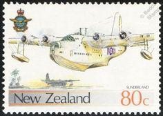 NZ RAF Short Sunderland Seaplane Airplane Aircraft Stamp Rnzaf | eBay