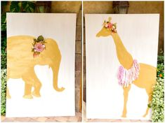 Two Wild birthday party with handmade signs, banners and even a elephant and giraffe for this little girl's second birthday party. 2nd Birthday Party For Girl, Park Birthday, Bday Girl, Circus Birthday, Animal Birthday, Diy Birthday, Birthday Party Decorations Diy, Birthday Party Themes, Birthday Ideas