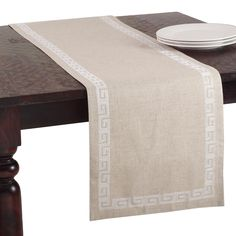 Stitched Greek Key Design Runner - Overstock Shopping - The Best Prices on Table Runners