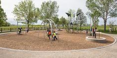 Legion Memorial Park - Oodle Swing, 7-post NetPlex, ZipKrooz and Swings. - Installed in 2014.