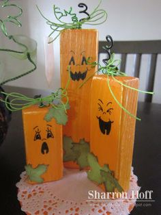 Pumpkin Patch wood blocks