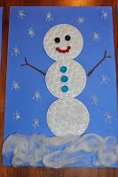 snowman card using makeup remover cotton rounds Winter Activities For Kids, Winter Crafts For Kids, Winter Kids, Craft Activities, Preschool Winter, Winter Christmas, Kids Christmas, Christmas Crafts, Snow Theme