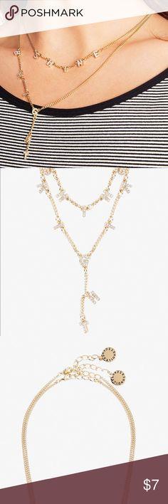 "Gold letter Necklace, ""shine bright"" Gold letter Necklace, ""shine bright"" BCBGeneration Jewelry Necklaces"