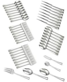 Macys Zwilling J.A. Henckels TWIN® Brand Bellasera 18/10 Stainless Steel 45-Pc. Flatware Set, Service for 8