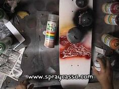 Skateboard -spraypaint tutorial