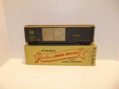 Old 1940's 50's Athearn O Scale ATSF Model Reefer Car built with box #Athearn