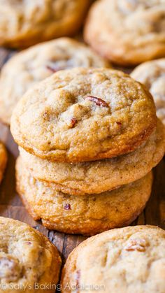 Buttery, soft 'n chewy cookies exploding with toasted pecans and brown sugar flavor.
