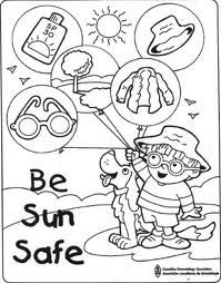 sunsmart coloring pages - photo#1