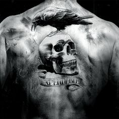 The Expendables eagle skeleton arm Waterproof temporary large back tattoo stickers 19*12cm