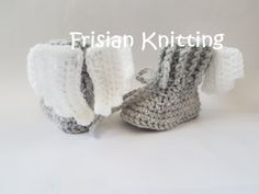 Gebreide & gehaakte schoenen - Gehaakte baby booties met vleugels - Een uniek product van FrisianKnitting op DaWanda