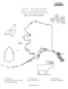 USAPrintables State Of Alaska Coloring Pages Alaska Tradition - Fun us states coloring map