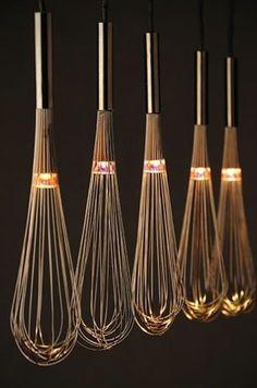 DIY hanging whisk tea light candle holder votive   party decor