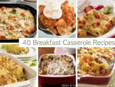 40 Breakfast Casseroles {Holiday Christmas Brunch Recipes} Saturday Inspiration & Ideas - bystephanielynn