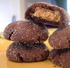 Chocolate Peanut Butter Surprise Cookies
