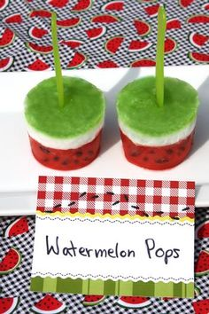 Cute Watermelon Pops - Check out the blog...the whole party set up was very awesome!