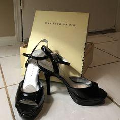 Martinez Valero Black patent leather heels Originally $70, never worn, original box Martinez Valero Shoes Heels