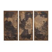 Instantly create a well-traveled look in your room with the Aspire Home Accents Stanford World Map Wall Decor - Set of 3 . This set includes three panels,. World Map Wall Decor, Wood World Map, Wall Decor Set, Wall Maps, Art Decor, Wall Decorations, Wood Panel Walls, Wood Paneling, Country Farmhouse Decor